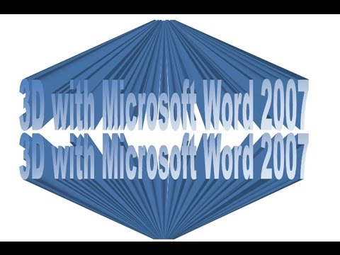how to make 3d text in word 2013