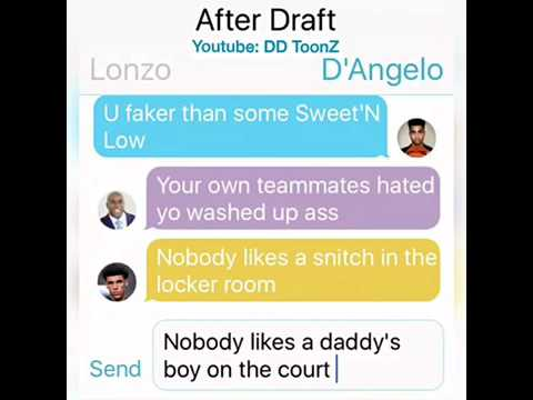 D'Angelo Russell Texting Magic and Lonzo Ball