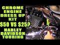 Chrome Engine Dress Up Caps For Harley Davidson Touring Big Twins