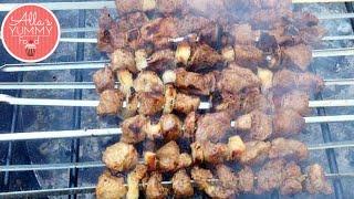 Best Shashlik Recipe( BBQ meat on skewers) - Как приготовить шашлык - Šašlika Recepte
