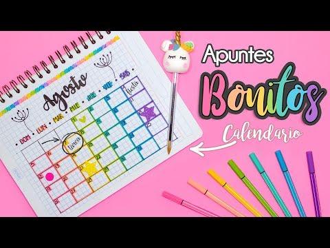 APUNTES BONITOS: Calendario de Actividades #REGRESOACLASES