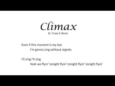 Climax Team B Ikon English Cover Lyric Video