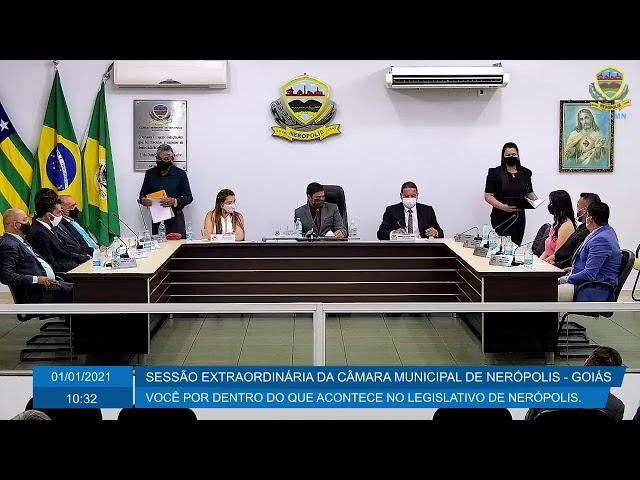 Sessão Extraordinária da Câmara Municipal de Nerópolis 01/01/2021
