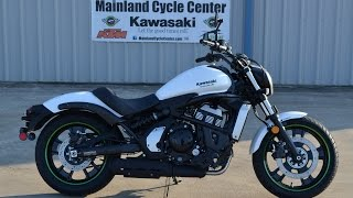 $7,399:   2015 Kawasaki Vulcan S ABS White  Overview and Review