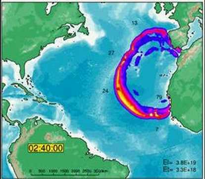 Tsunami Atlantico La Palma