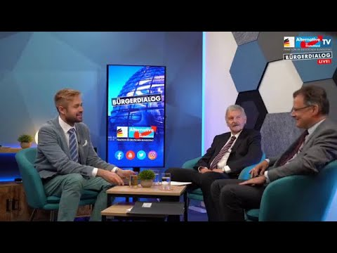AfD Onlinebürgerdialog. Thema Frankfurter Krawallnacht mit Jürgen Braun & Prof. Lothar Maier 20.7.20