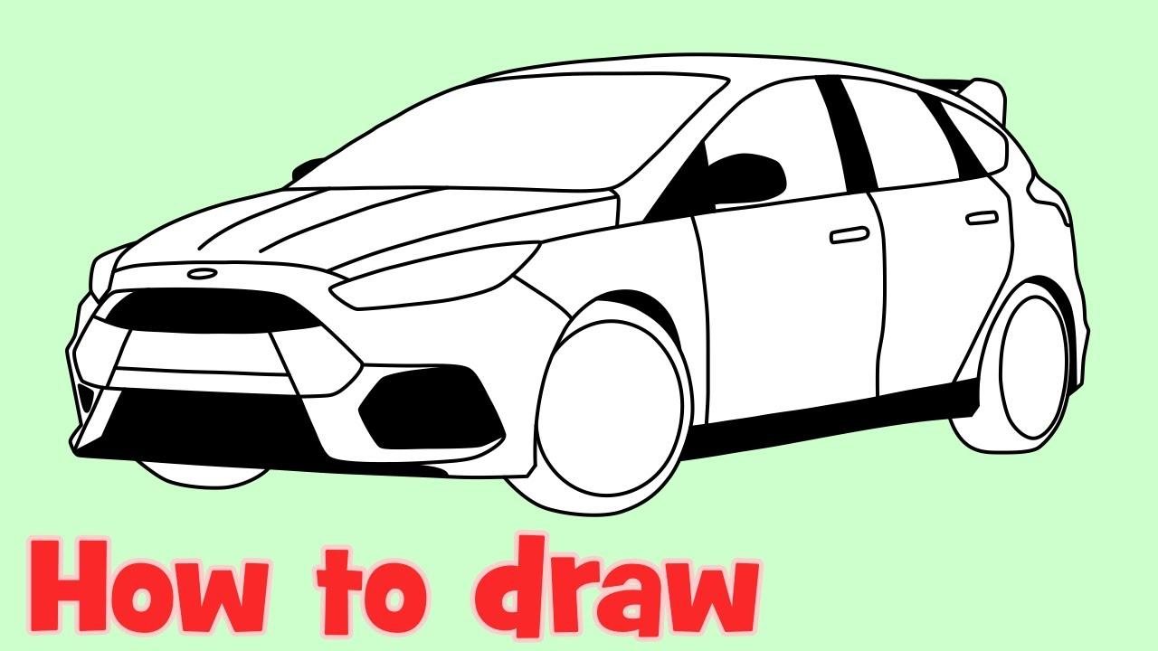 как нарисовать ford gt 200 поэтапно
