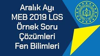 Aralık Ayı / MEB 2019 LGS / Örnek Soruları Ve Çözümleri / Fen Bilimleri