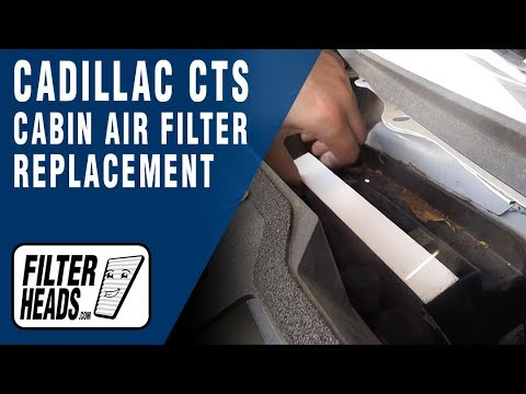 How to Replace Cabin Air Filter 2012 Cadillac CTS