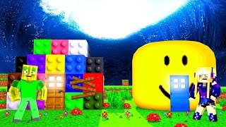 LEGO house vs. ROBLOX House - Minecraft TSUNAMI