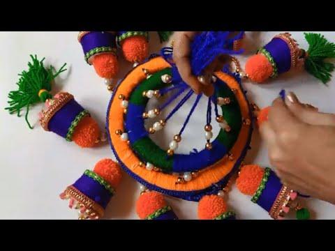 Old Bangles Reuse idea ll Jhumar Bangles Wall Hanging Idea // Amazing Home Decoration Idea
