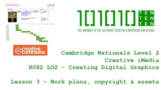 Creative iMedia R082 Creating Digital Graphics - Lesson 3: Work plans, copyright & assets
