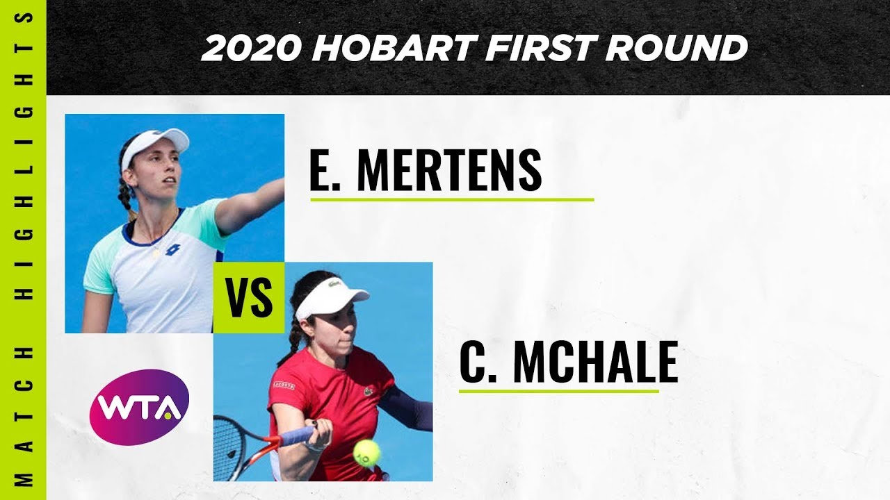 Elise Mertens vs. Christina Mchale | 2020 Hobart First Round | WTA Highlights