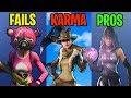 FAIL vs KARMA vs PROS - Fortnite Battle Royale Funny Moments