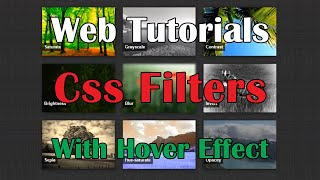 Simple hover effects with CSS filters(Web Tutorials - Уроки на CSS3 и webkit , HTML5) HD