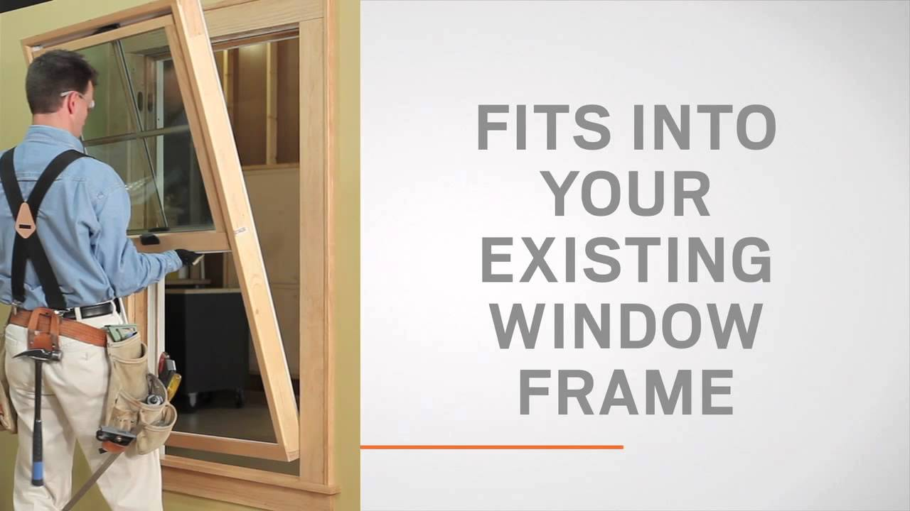 Anderson Replacement Windows >> Tilt-Wash Double-Hung Window Insert Replacement Overview - YouTube