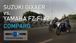 suzuki gixxer vs yamaha fz fi v2 0 choosemybike in review