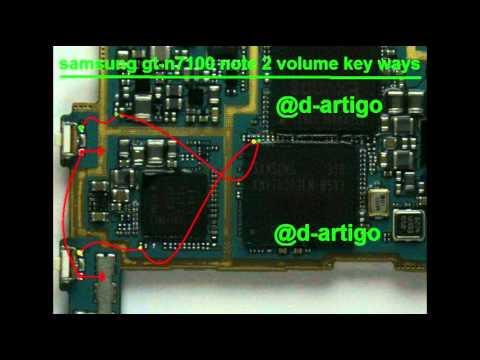 اعطال سامسونج نوت 2 N7100 Note 2 Hardware Solution Youtube
