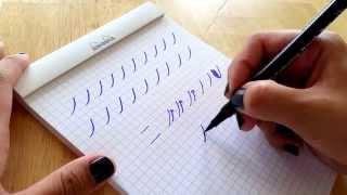 Basic brush calligraphy strokes: The entrance stroke