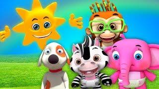 Г-н Золотое солнце | детские стишки | мультфильмы для детей | Little Treehouse | Mr Sun