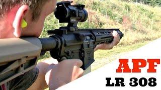 shooting apf 308 lr308 ar10 with holosun red dot