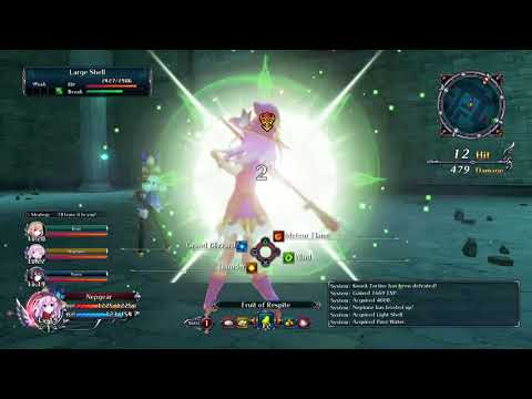 Neptunia team efforts strategies skills action