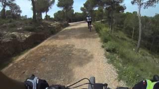 Ruta MTB BT BTT XC en Cresta del gallo hacia Relojero en sierra del Valle y Carrascoy