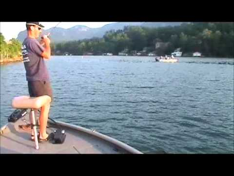 White Bass fishing on scenic Lake Lure with Rob's Guide Service