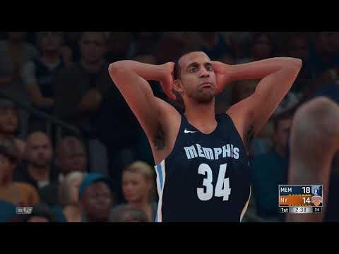 NBA 2K18 Memphis Grizzlies vs New York Knicks