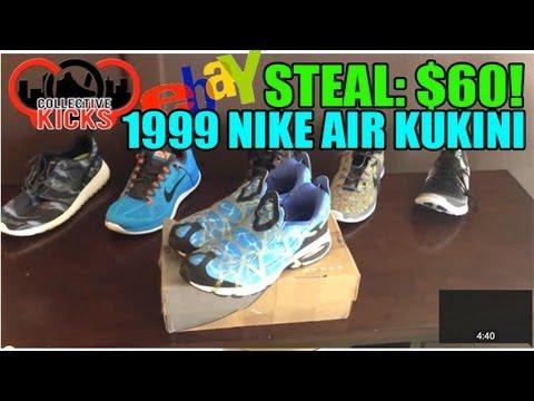 EBAY STEAL: ORIGINAL 1999 NIKE AIR KUKINI FOR $60!