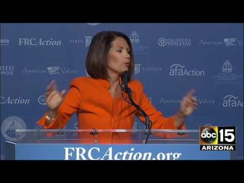 FULL: Fiery Michele Bachmann Praises Donald Trump at Washing