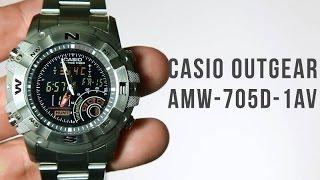 Casio Hunting gear AMW-705D-1AV : FUll stainless steel
