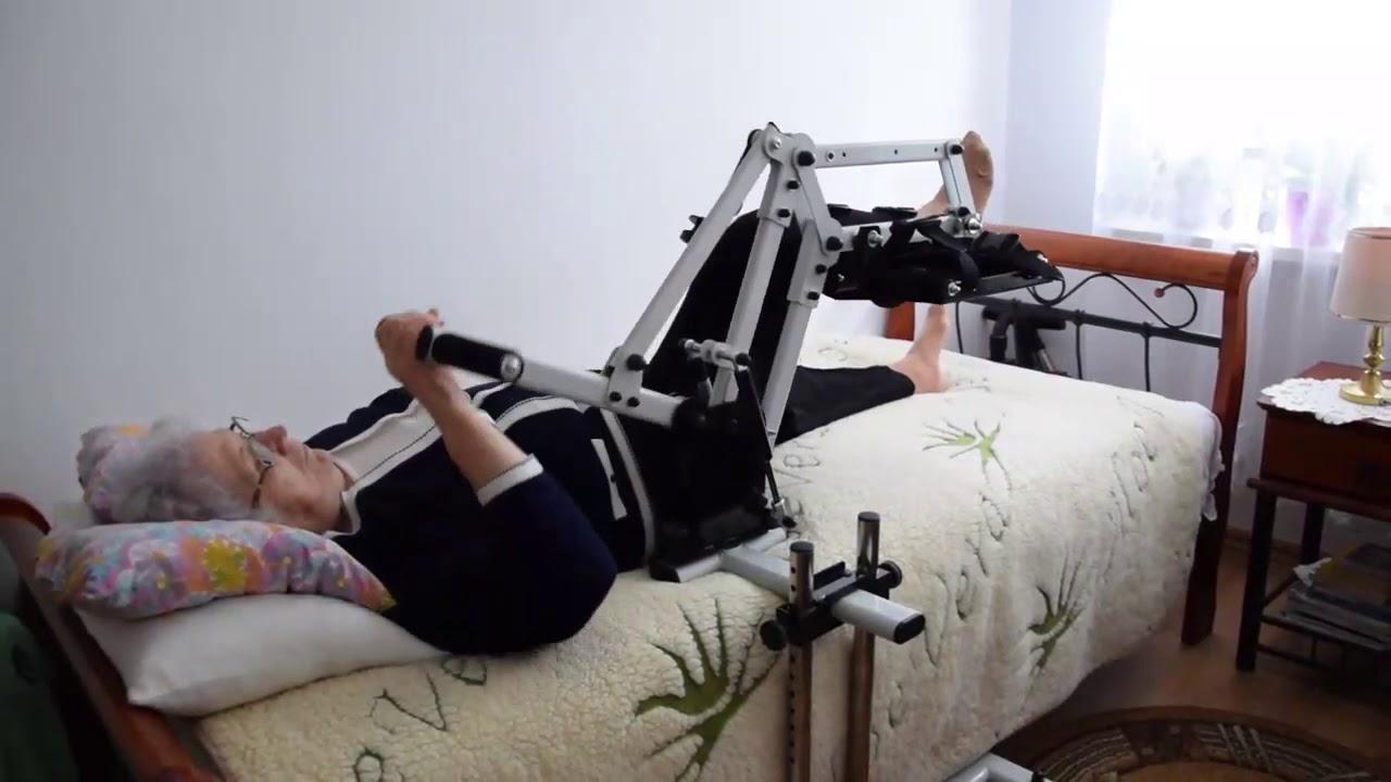 Exercices au lit pour les personnes âgées - YouTube