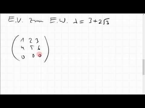 07C.1 Eigenwerte, Eigenvektoren