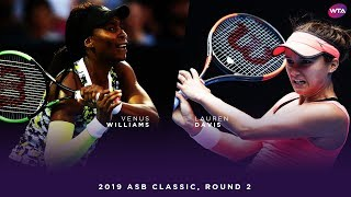 Venus Williams vs. Lauren Davis | 2019 ASB Classic Second Round | WTA Highlights