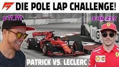 Unterbiete ich die echte Pole Zeit von Charles Leclerc in Singapur?! | F1 2019