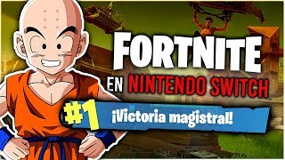 MI PRIMERA VICTORIA REAL en FORTNITE. ¡Sin trampa ni cartón, sólo skill! (XDD) | [Gameplay Switch]