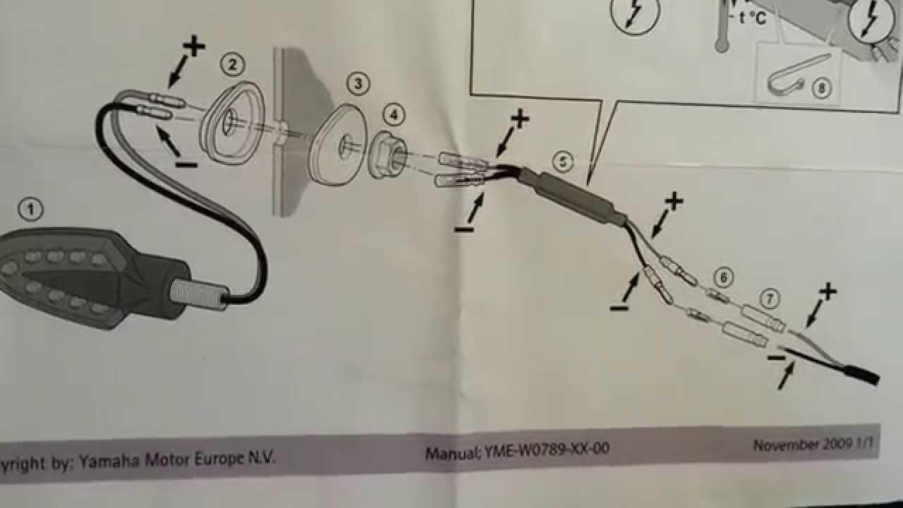 Schema Elettrico Hm : Istruzioni montaggio frecce led yamaha youtube