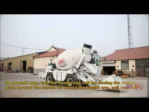 1.6m3 Self Loading/Self Propelled Concrete Mixer Truck