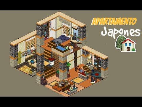 Habbo apartamento japones youtube for Casa moderna habbo