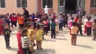 North Korean Kindergarten - Kids Singing in North Korea