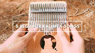 5 Easy Beginner Kalimba Songs Tutorial