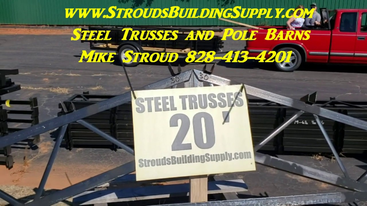 STEEL TRUSSES for RV, BOAT, and HAY STORAGE Pole Barns
