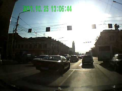 By car on the streets of Krasnoyarsk (Siberia, Russia) №1