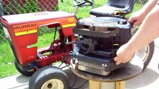 Briggs & Stratton 18HP 1984 Twin 422707 First Start After Rebuild - Murray 5-39004