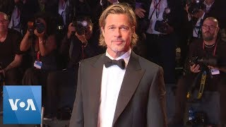 Brad Pitt Walks Venice Film Festival Red Carpet