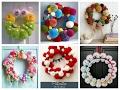 Pom Pom Wreaths Ideas for Every Season - Easy DIY Door Wreaths with Pompoms