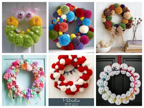 Easy to make christmas door wreath