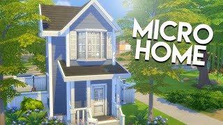 BLUE SUBURBAN MICRO HOME // The Sims 4: Speed Build