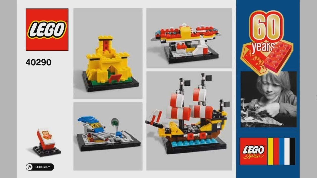 2018 Lego Merchandise 40290 60 Years Of The Lego Brick